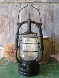 Antieke Franse ijzeren stormlamp
