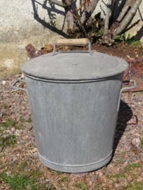 Oude Franse zinken afvalemmer / vuilnisemmer