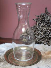 Brocante glazen waterkaraf wijnkaraf, inh. 1 liter