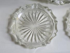 Kristal glazen onderzetters Czechoslovakia