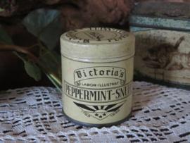 Oud blikje Victoria's Peppermint-Snuff uit 1898
