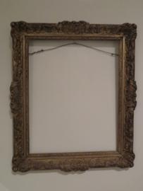 Antieke barok houten schilderijlijst / spiegellijst, 45 x 37 cm