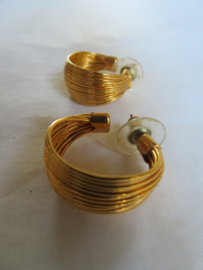 Vintage oorstekers oorbellen goud