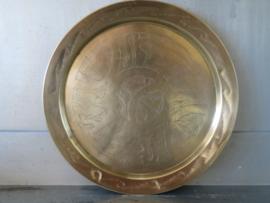 Oud Marokkaans koperen dienblad, 28 cm