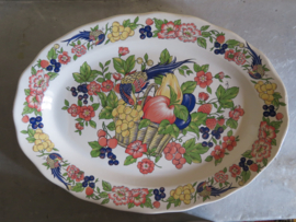 Ovale aardewerk serveerschaal, 45 cm
