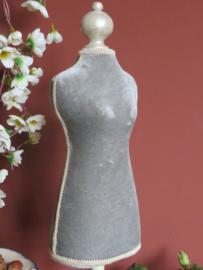 Brocante Frans paspopje, 50 cm hoog