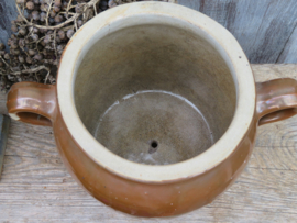 Oude Franse bruine grespot  21 cm (artikelnr. 92)