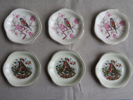 Petit four schaaltjes Royal Worcester Spode Palissy, set van 6 stuks