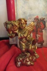 Goudkleurige kandelaar met kerstengel