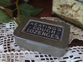 Oud Engels blikje Keating's Cough Lozenges