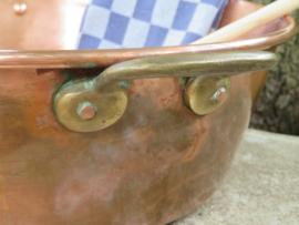 Oude Franse roodkoperen jampan, gemerkt Tournus, inh. 8 liter