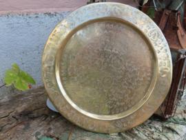 Oud Indiaas koperen dienblad, 28 cm