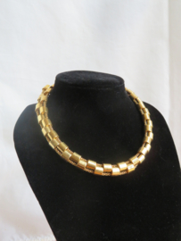 Vintage Monet choker halsketting goud