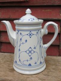 Grote koffiekan koffiepot saksisch blauw