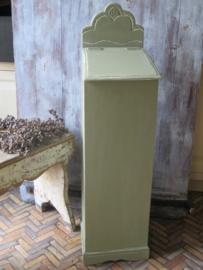 VERKOCHT Oud Frans houten stokbroodkastje