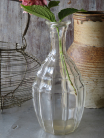 Oude Franse glazen karaf vaas