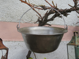 Metalen bak schaal met hengsel