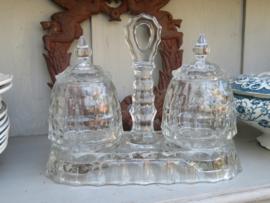 Franse glazen confiture set
