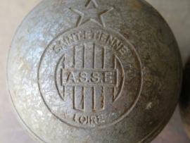 Oude metalen jeu de boules ballen / metalen pétanque ballen