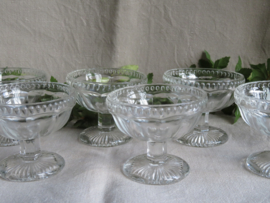 Glazen ijscoupes fruitcoupes, set van 6 stuks