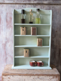 VERKOCHT Brocante houten kruidenrek of miniaturenrek