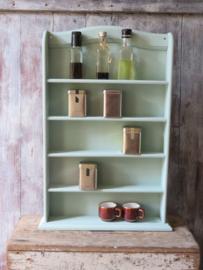 Brocante houten kruidenrek of miniaturenrek