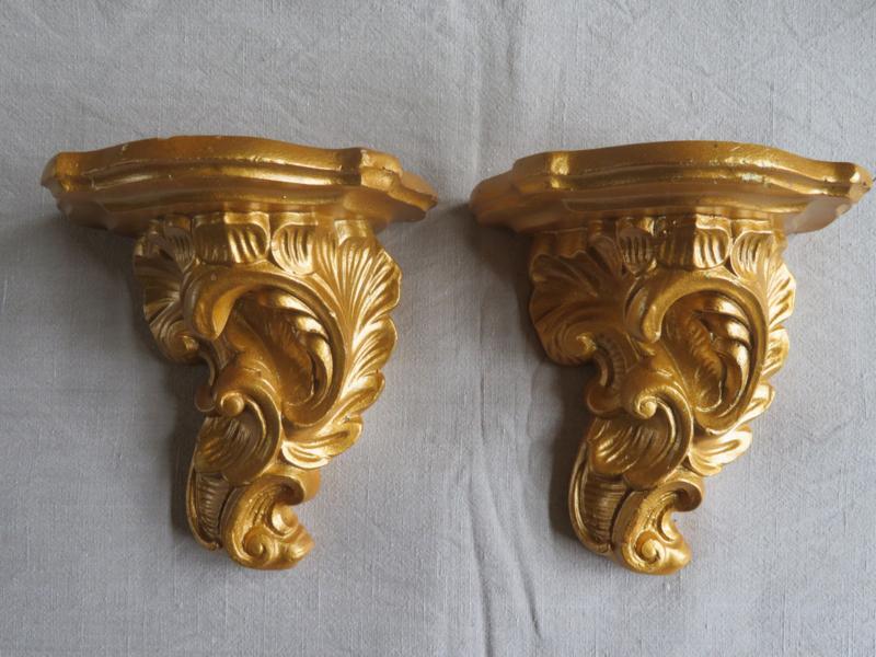 Barok stenen goud wandconsole wandornament