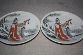 Chinese bordjes, set van 3