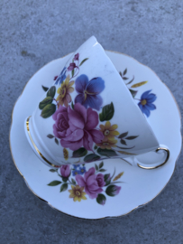Koffiekopje bloemen Regency English bone China