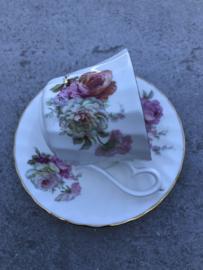 Koffiekopje bloemen Delfesta Staffordshire England