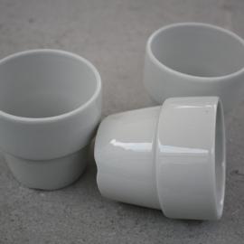Set van 3 witte mokjes Mosa