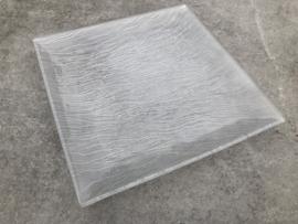 Glazen schaal vierkant