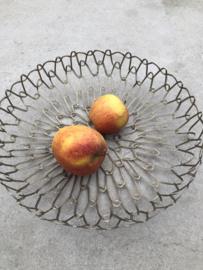 """""""Gevlochten"""" metalen Fruitmand"""