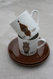 """Set koffiekopjes """"Klok"""" Mitterteich"""