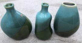 Kleine vaasjes aqua blauw-groen