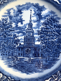 Engels bord Liberty Blue Independance Hall