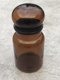Apothekerspot/voorraadpot bruin glas