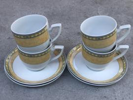Koffiekopjes Kahla geel