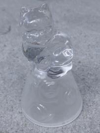 Beeldje kristal hondje