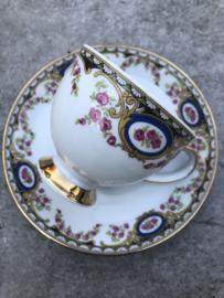 Koffiekopje roze-goud-blauw Mitterteich