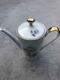 Koffiepot Kronester grijs goud