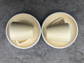 Espressokopjes zachtgeel
