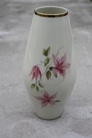 Vaas crèmekleur met roze bloemen PMR Jaeger&Co
