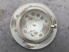 Vintage thee trio Winterling goud-pastel