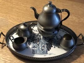 Prachtige tinnen theeset Gelria