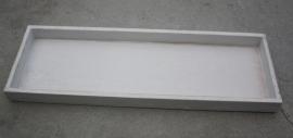 Wit houten plateau rechthoek