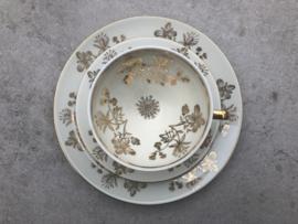 Vintage theetrio goud-bloem Winterling Marktleuthen
