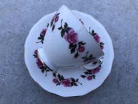 Koffiekop roze bloem Royal Vale Ridgeway potteries