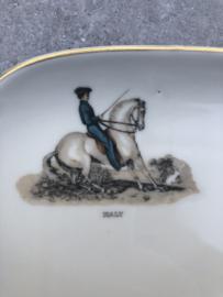 Schaaltje/bordje paard/dressuur Verbano Italy