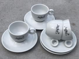 3 Cappuccino kopjes Jacks coffee & tea